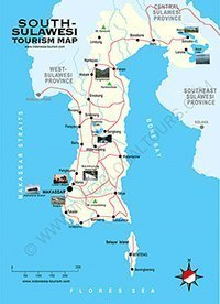 Map of South Sulawesi